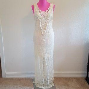 Flying Tomato lace crochet maxi dress